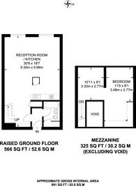 Large floorplan for Fairfield Road, Bow, E3