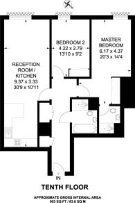 Large floorplan for Altitude Point, Alie Street, Aldgate, E1