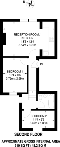 Large floorplan for Fulham Palace Road, Fulham, W6