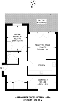 Large floorplan for Kinglet Close, Forest Gate, E7