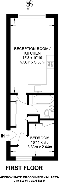 Large floorplan for Great Western Road, Notting Hill, W11