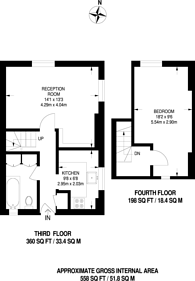 Large floorplan for Collingwood Street, Whitechapel, E1