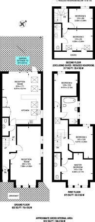 Large floorplan for Duncombe Hill, Honor Oak Park, SE23