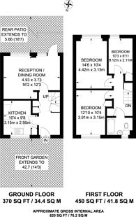 Large floorplan for Brangton Road, Kennington, SE11