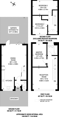 Large floorplan for Shirley Row, South Norwood, SE25
