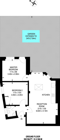 Large floorplan for Clifton Gardens, Golders Green, NW11