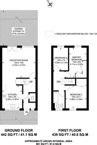 Large floorplan for Church Crescent, Victoria Park, E9