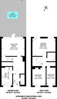 Large floorplan for Brookwood Road, Hounslow, TW3