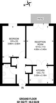 Large floorplan for Tavistock Road, East Croydon, CR0