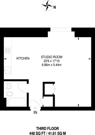 Large floorplan for Great West Road, Hammersmith, W6