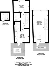 Large floorplan for St John Street, Clerkenwell, EC1V