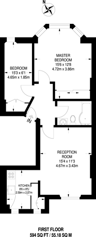 Large floorplan for Coleherne Road, Earls Court, SW10