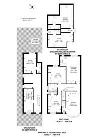 Large floorplan for Queens Way, Hendon, NW4