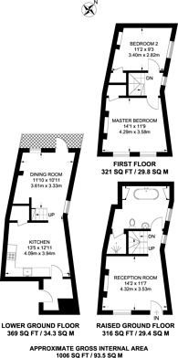 Large floorplan for Keystone Crescent, Islington, N1
