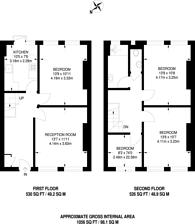 Large floorplan for Holloway Road, Islington, N7
