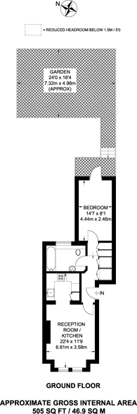 Large floorplan for Barclay Road, Fulham, SW6