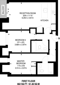 Large floorplan for John Street, Bloomsbury, WC1N