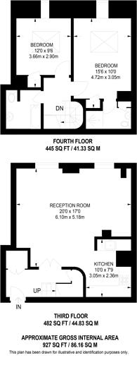 Large floorplan for Spring Gardens, St James's, SW1A