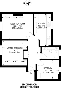 Large floorplan for Richmond Grove, Islington, N1
