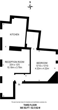 Large floorplan for Commercial Street, Spitalfields, E1