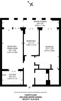 Large floorplan for Sheldon Square, Paddington, W2