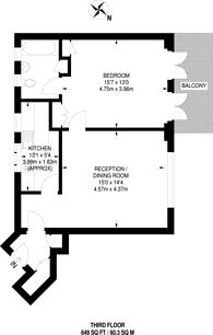 Large floorplan for Cheltenham Terrace, Sloane Square, SW3
