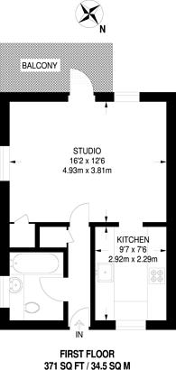 Large floorplan for Armitage Road, Greenwich, SE10