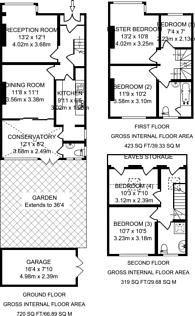 Large floorplan for South Park Crescent, Catford, SE6
