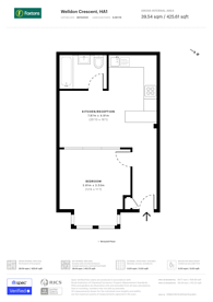 Large floorplan for Welldon Crescent, Harrow, HA1