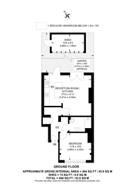 Large floorplan for Links Road, Mitcham, SW17