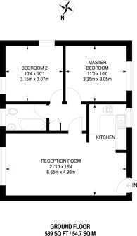 Large floorplan for South Norwood Hill, Crystal Palace, SE25