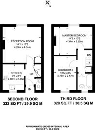 Large floorplan for Arbon Court, Islington, N1