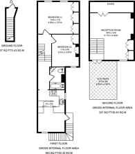 Large floorplan for Hugon Road, Fulham, SW6