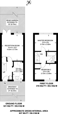 Large floorplan for Grebe Close, Forest Gate, E7