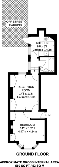 Large floorplan for Warwick Gardens, Kensington, W14