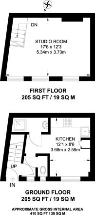 Large floorplan for Adrian Mews, Chelsea, SW10