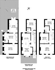 Large floorplan for Wiverton Road, Sydenham, SE26