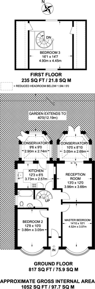 Large floorplan for Pool Road, West Molesey, KT8