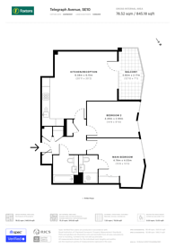 Large floorplan for Telegraph Avenue, Greenwich, SE10