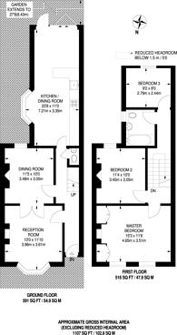 Large floorplan for Amott Road, Peckham, SE15