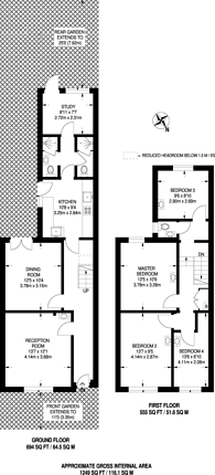 Large floorplan for Sussex Way, Holloway, N7