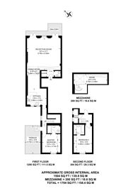 Large floorplan for Lancaster Gate, Notting Hill Gate, W2