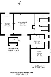 Large floorplan for Rossiter Fields, High Barnet, EN5