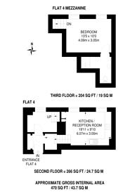 Large floorplan for Puma Court, Spitalfields, E1