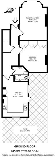 Large floorplan for Hackford Road, Brixton, SW9