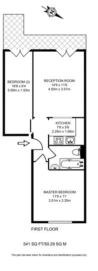 Large floorplan for Belgrave Road, Westminster, SW1V