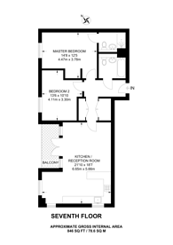 Large floorplan for High Street, Sutton, SM1