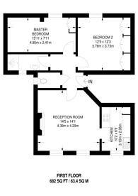 Large floorplan for Grosvenor Road, Chiswick, W4