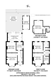 Large floorplan for Riverview Park, Catford, SE6