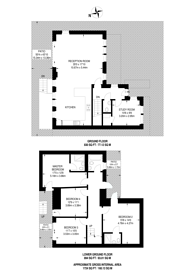 Large floorplan for Combemartin Road, Southfields, SW18